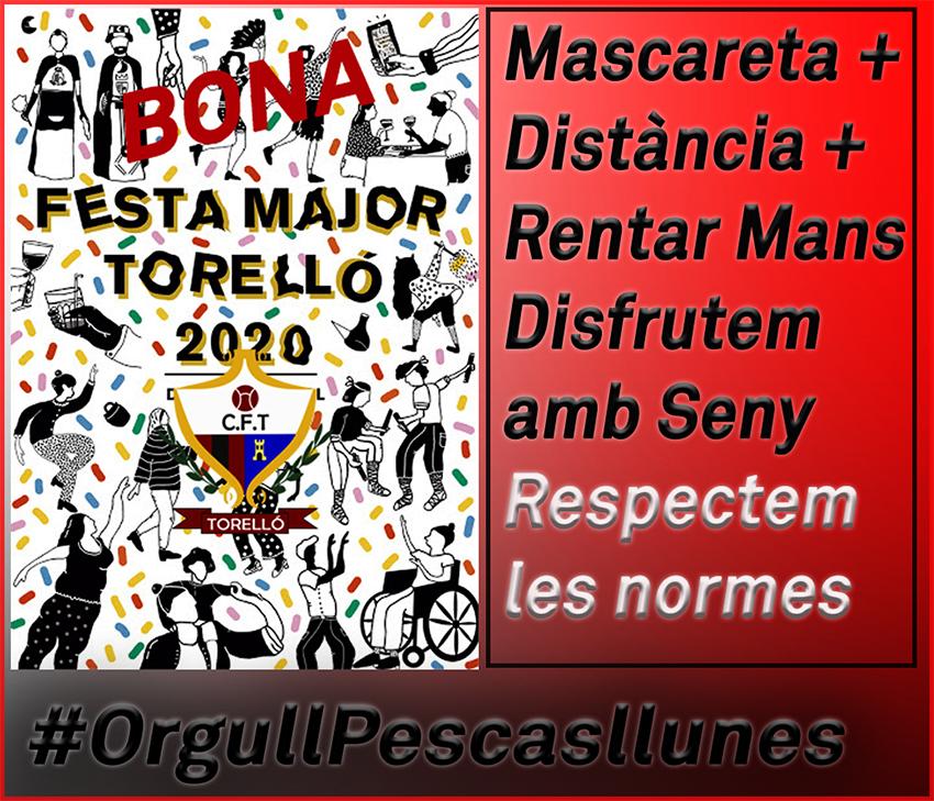 EL CF. TORELLÓ US DESITJA UNA MOLT BONA FESTA MAJOR 2020