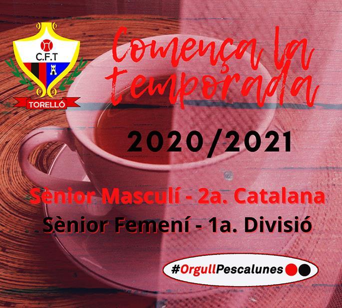 COMENCEM NOVA TEMPORADA: 2020/2021
