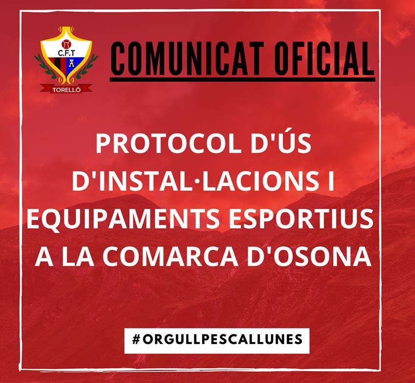 PROTOCOL D'ÚS D'INSTAL·LACIONS I EQUIPAMENTS ESPORTIUS A LA COMARCA D'OSONA
