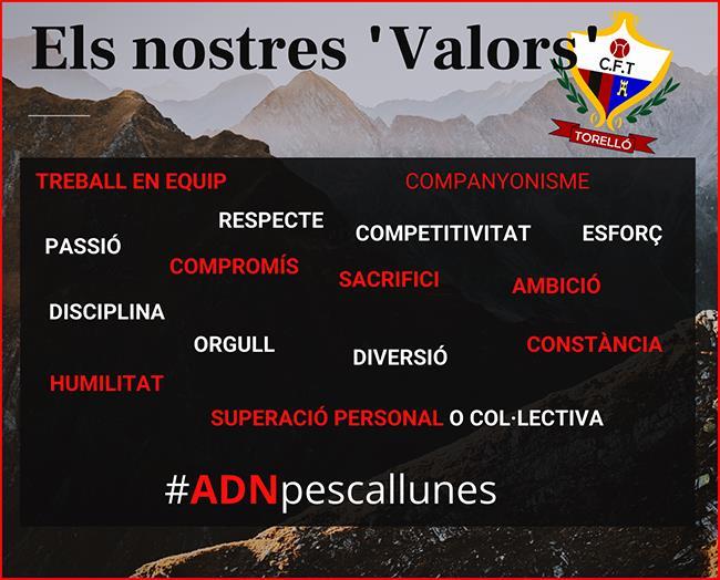 """""""VALORS"""" CLUB FUTBOL TORELLÓ"""