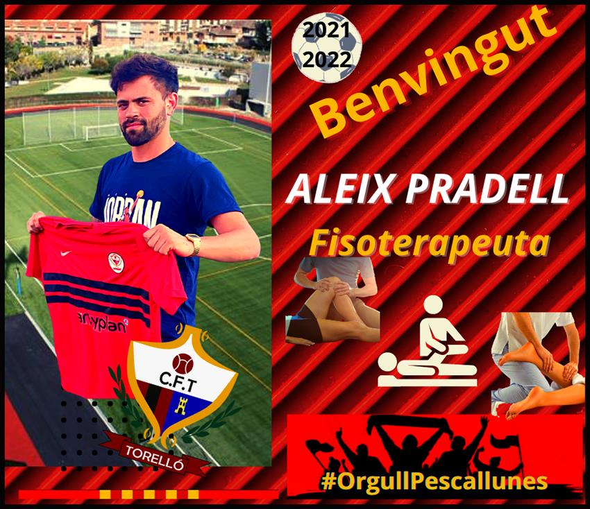 ALEIX PRADELL nou fisioterapeuta del club.