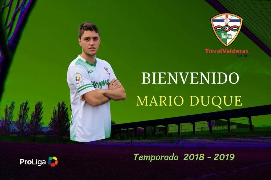 OFICIAL: MARIO DUQUE NUEVA INCORPORACIÓN DEL PRIMER EQUIPO