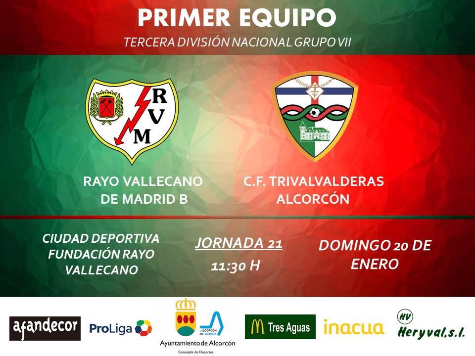 "PREVIA TERCERA/ Rayo Vallecano ""B"" - TrivalValderas Alcorcón"