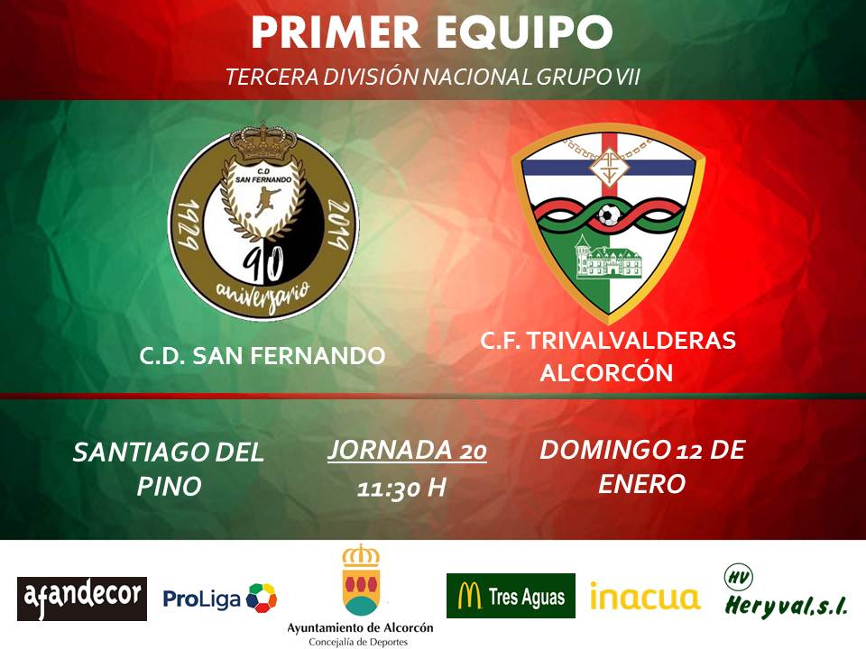 PREVIA TERCERA / San Fernando - TRIVALVALDERAS ALCORCÓN