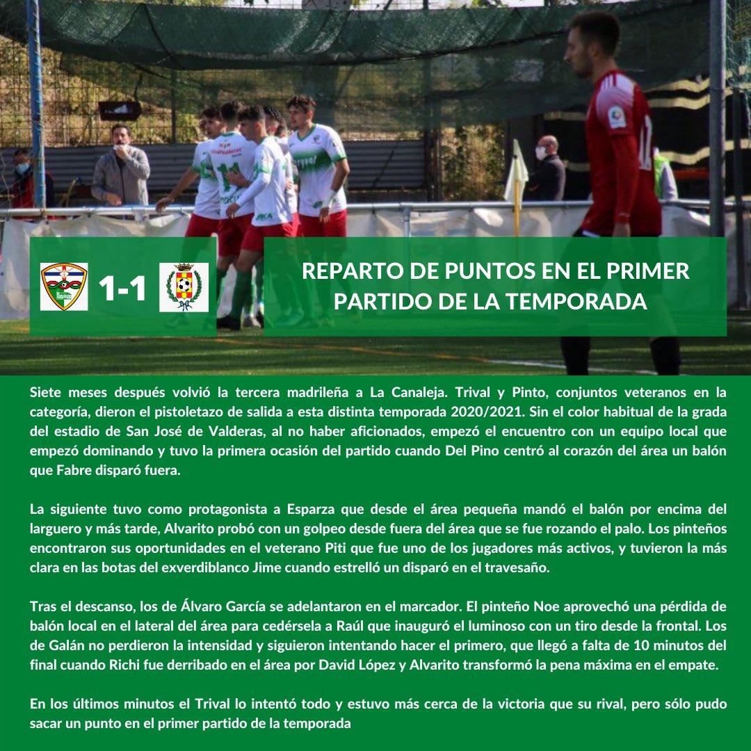 CRÓNICA J1 |C.F. TrivalValderas Alcorcón - Club Atlético de Pinto