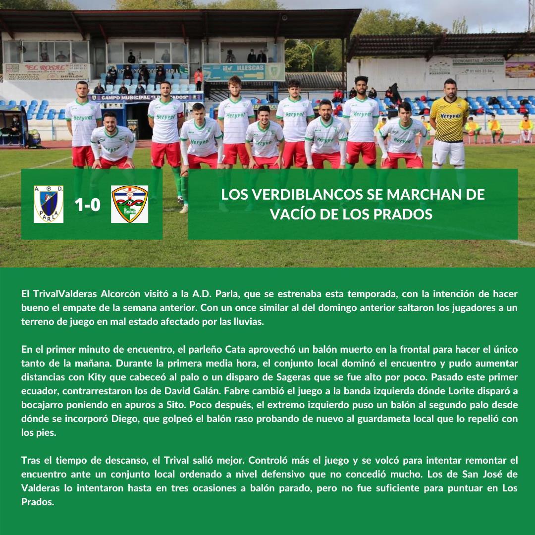 CRÓNICA J2 | A.D. Parla - C.F. TrivalValderas Alcorcón