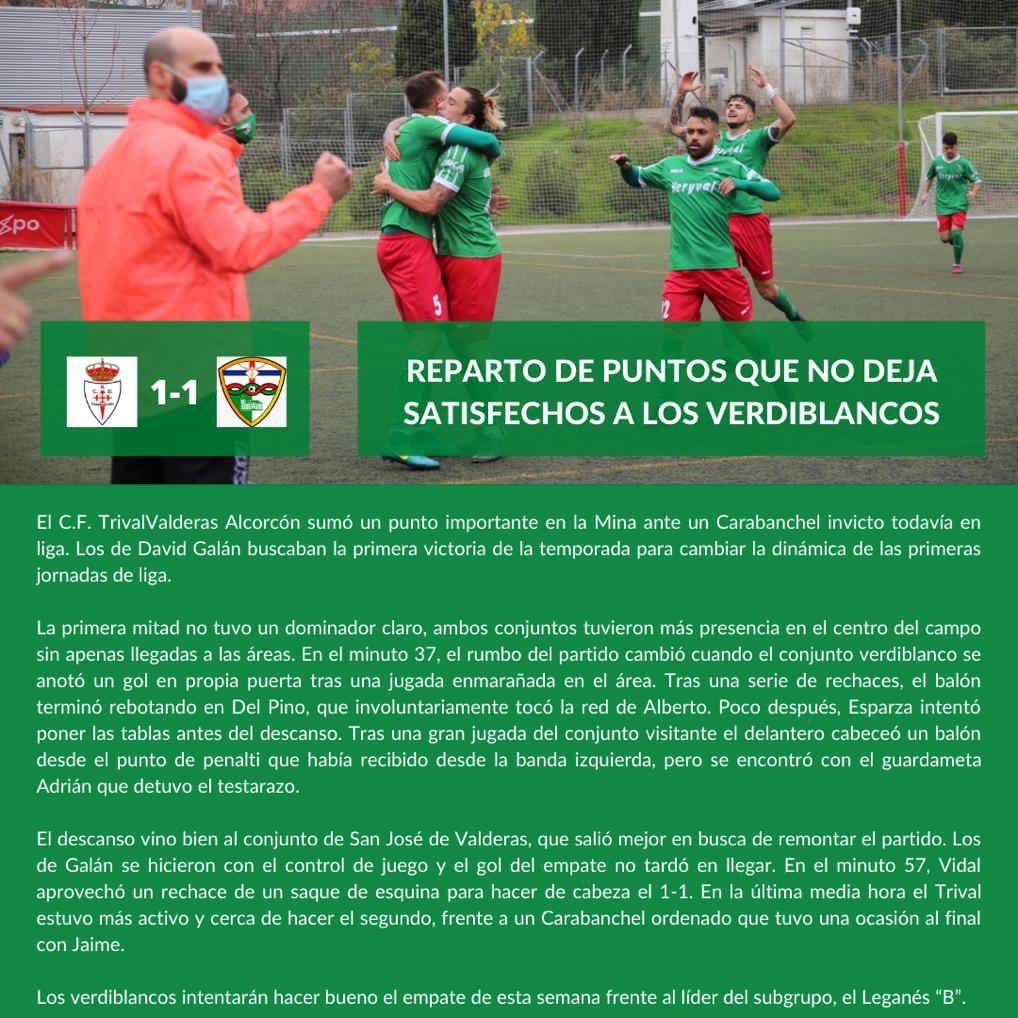 sdsCRÓNICA J5 | R.C.D. Axpo Carabanchel - C.F. TrivalValderas Alcorcón