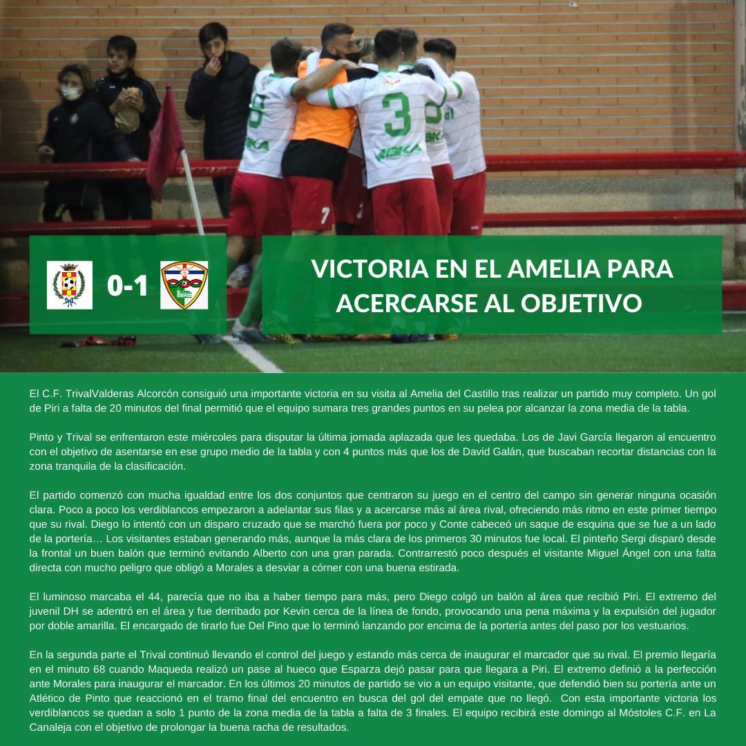 CRÓNICA J12 | Club Atlético de Pinto - C.F. TrivalValderas Alcorcón