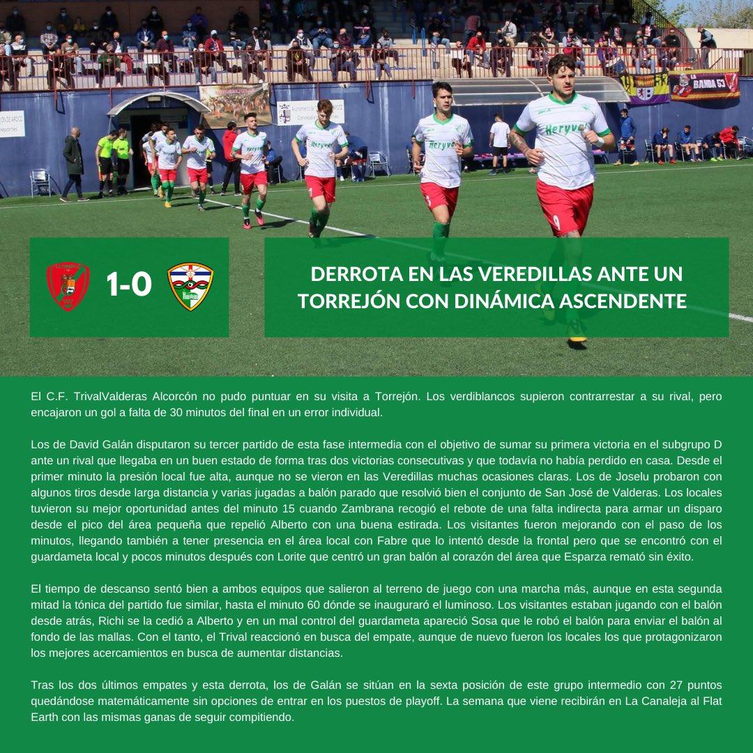 CRÓNICA J3 FASE 2 | A.D. Torrejón C.F. - C.F. TrivalValderas Alcorcón