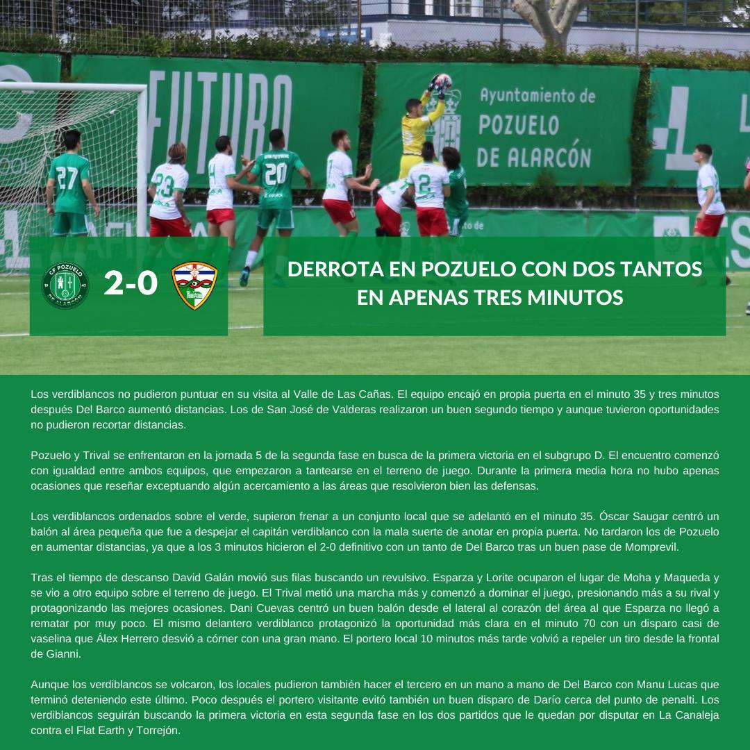 sdsCRÓNICA J5 FASE 2 | C.F. Pozuelo - C.F. TrivalValderas Alcorcón
