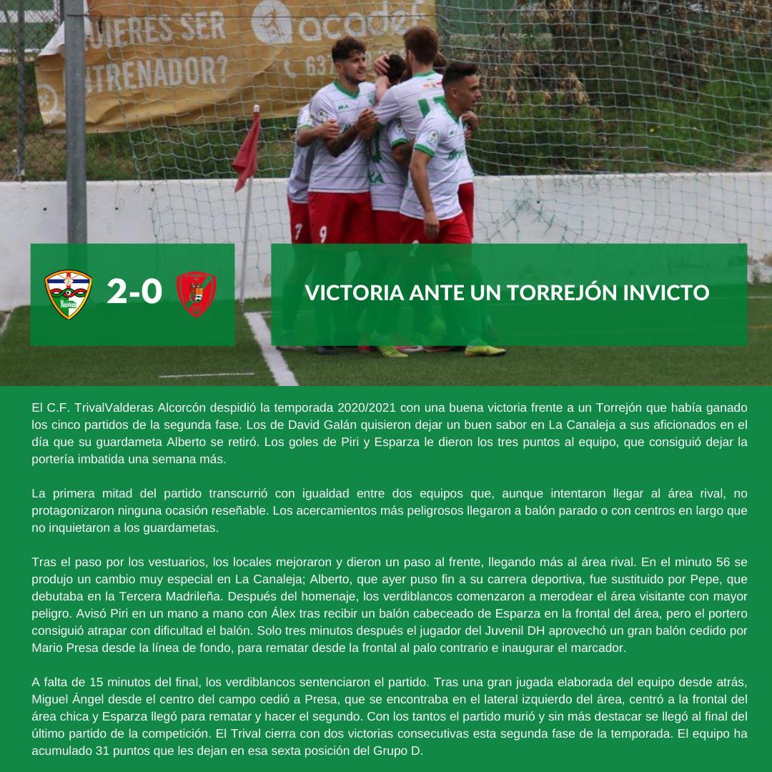 sdsCRÓNICA J6 FASE 2 | C.F. TrivalValderas Alcorcón - A.D. Torrejón