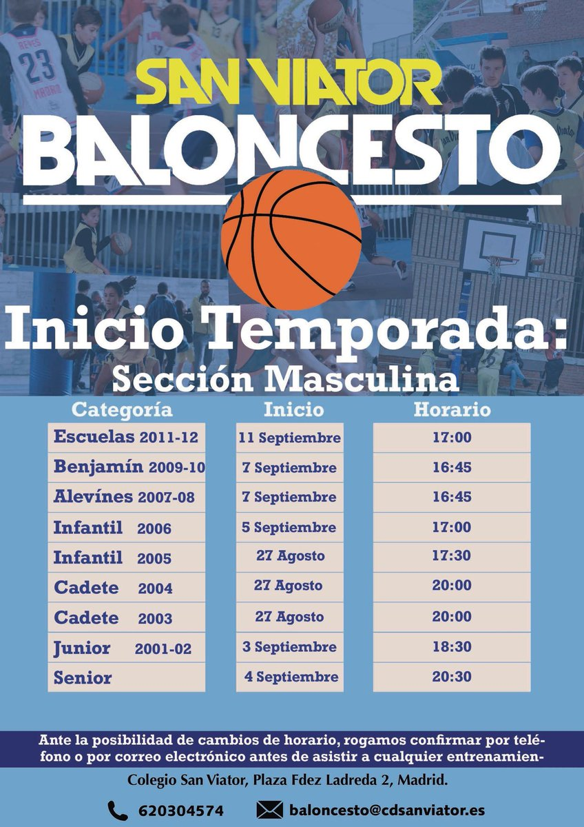 INICIO DE TEMPORADA BALONCESTO