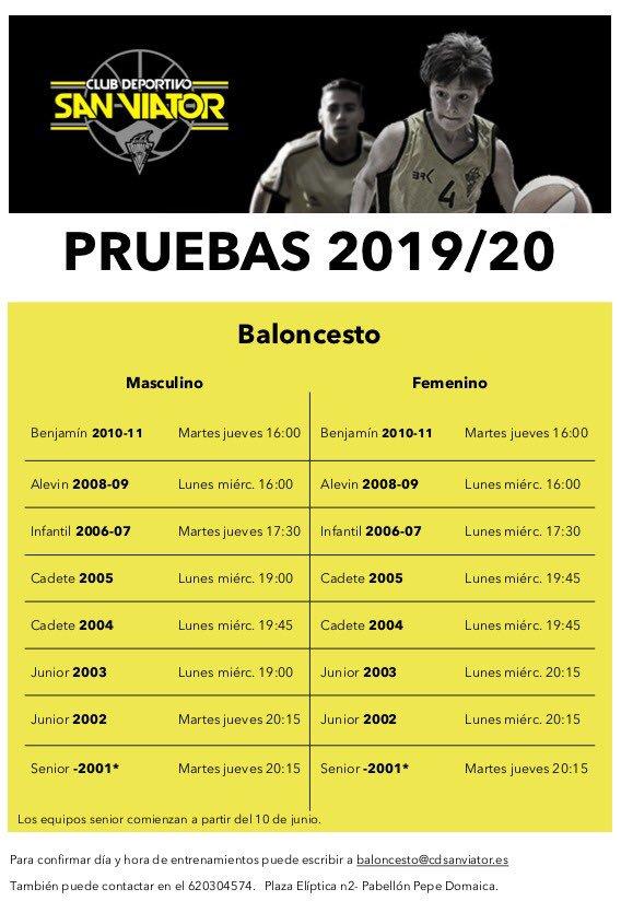 PRUEBAS TEMPORADA 2019/20
