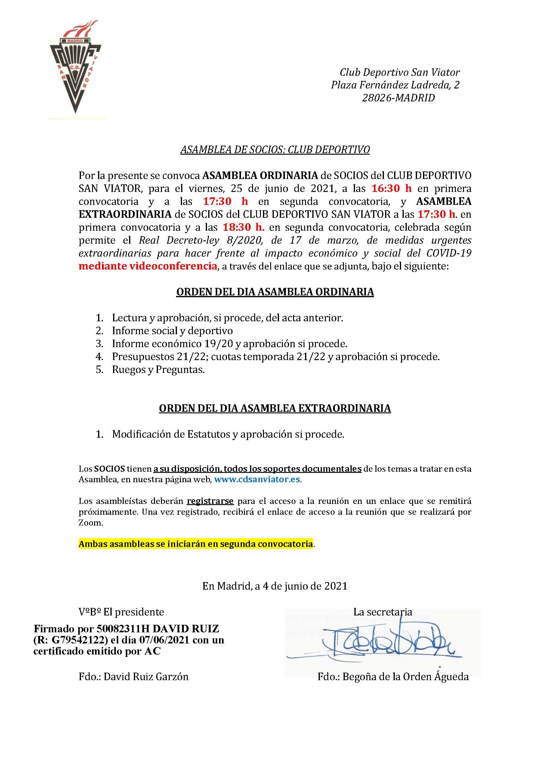 ASAMBLEA DE SOCIOS 2021