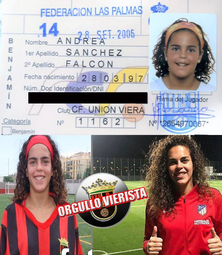El Viera felicita a Andrea Sánchez Falcón por su título con el Atlético de Madrid