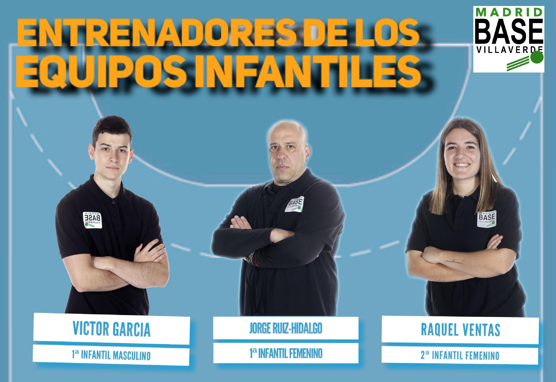 Entrenadores de los equipos infantiles